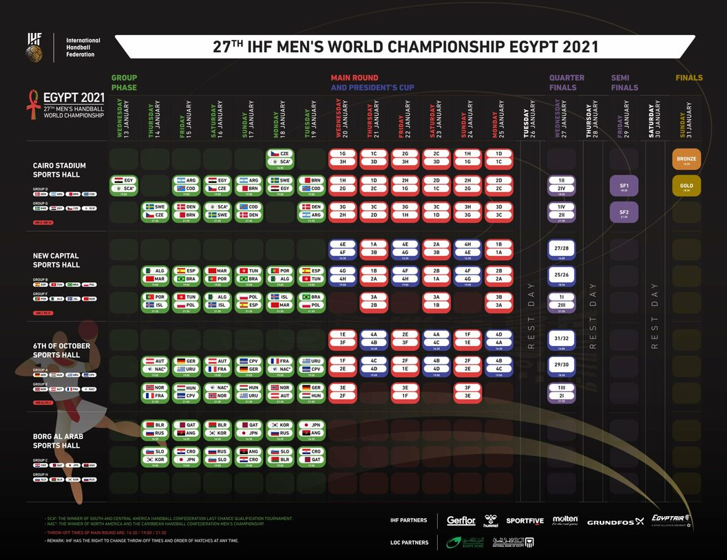 Egypt2021 Match Schedule
