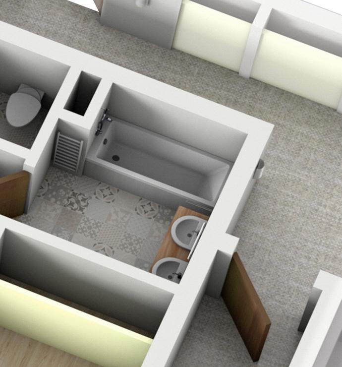 Áreas privadas: baños