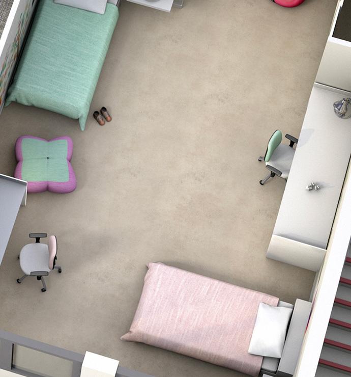 Áreas privadas: habitaciones
