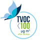 TVOC después de 28 días < 100 µg/m3